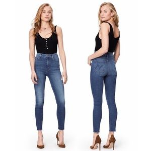 MOTHER Jeans High Waisted Looker Fray Ankle Sz 28